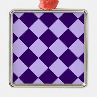 Ornement Carré Argenté Violette violette et foncée de Grand-Lumière