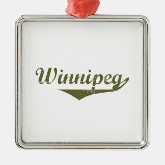 Ornement Carré Argenté Winnipeg