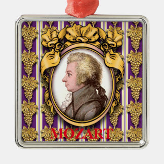 Ornement Carré Argenté Wolfgang Amadeus Mozart