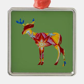 Ornement carré coloré de DeerPremium