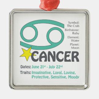 Ornement carré de traits de Cancer