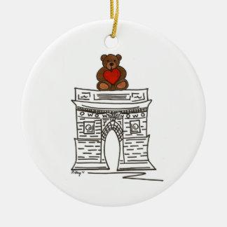 Ornement carré d'ours de nounours de NYC Valentine