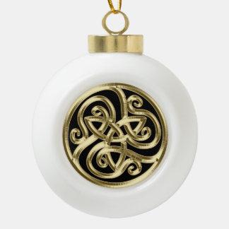 Ornement celtique d'arbre de Noël de noeud