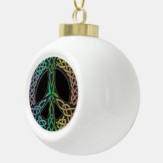 Ornement celtique d'arbre de Noël de signe de paix