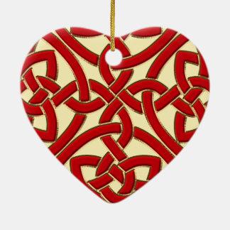 Ornement celtique de Noël de coeur de noeud d'or