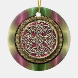 Ornement celtique de noeud de bouclier de vert
