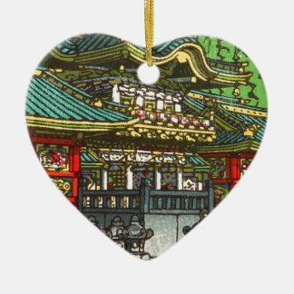 Ornement Cœur En Céramique 川瀬巴水 de Kawase Hasui : Tombeau de Toshogu à Nikko
