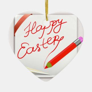 Ornement Cœur En Céramique 150Happy Easter_rasterized