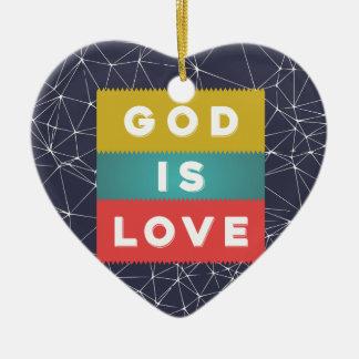 Ornement Cœur En Céramique 1 4:8 de John - Dieu est amour