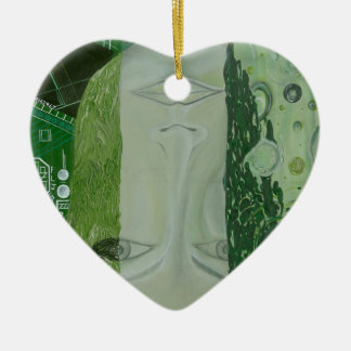 Ornement Cœur En Céramique 7 dimensions dans un endroit