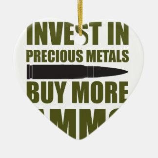 Ornement Cœur En Céramique Achetez plus de munitions, les investissez en