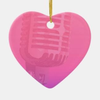 Ornement Cœur En Céramique Affiche d'assistance de nuit de karaoke