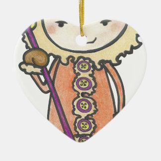 Ornement Cœur En Céramique Akiou le petit inuit