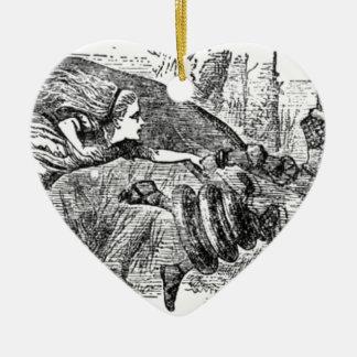 Ornement Cœur En Céramique Alice et la reine