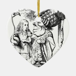 Ornement Cœur En Céramique Alice et la reine rouge