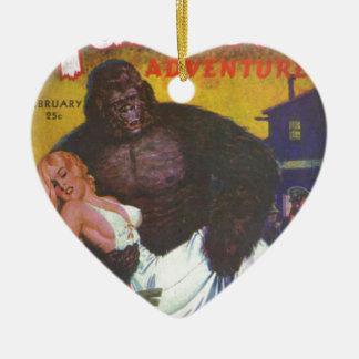 Ornement Cœur En Céramique Ami de gorille