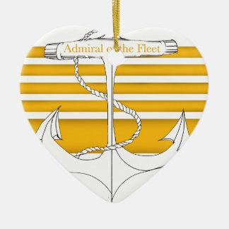 Ornement Cœur En Céramique amiral d'or de la flotte, fernandes élégants