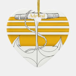 Ornement Cœur En Céramique amiral d'or, fernandes élégants