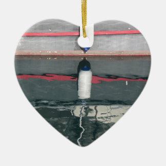 Ornement Cœur En Céramique Amortisseurs de bateau accrochant sur le conseil