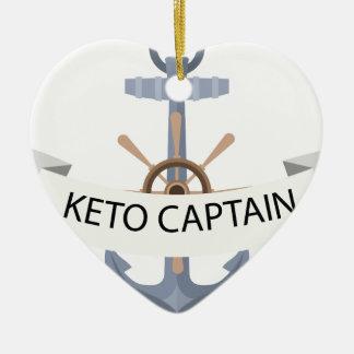 Ornement Cœur En Céramique ancre de keno