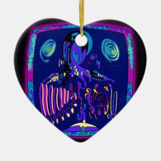 Ornement Cœur En Céramique Andrei