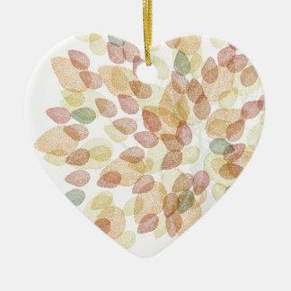 Ornement Cœur En Céramique Arbre de bouleau dans des couleurs d'automne