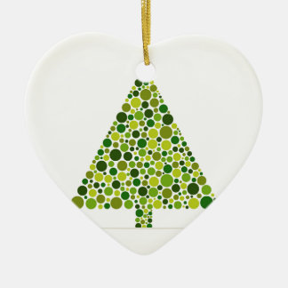 Ornement Cœur En Céramique Arbre de Noël