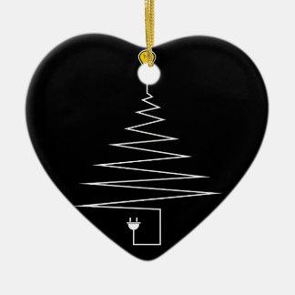 Ornement Cœur En Céramique Arbre de Noël électrique