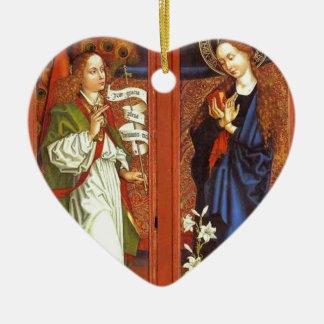 Ornement Cœur En Céramique Arkhangel Gabriel - annonce - Schongauer