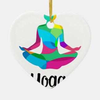 Ornement Cœur En Céramique Arrangement et forme physique de yoga