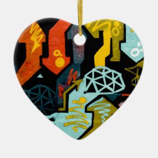 Ornement Cœur En Céramique Art abstrait des flèches