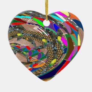 Ornement Cœur En Céramique ART abstrait : L'exposition d'arène de STADE fond