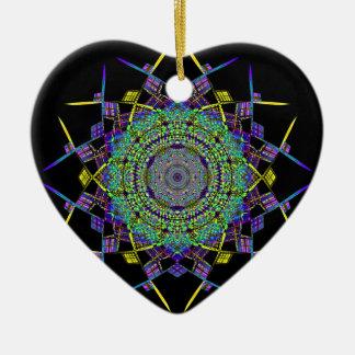 Ornement Cœur En Céramique Art réutilisé de fumée (6)
