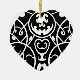 Ornement Cœur En Céramique art tribal de cercle