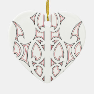 Ornement Cœur En Céramique art tribal maori