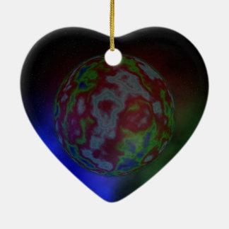 Ornement Cœur En Céramique Aura d'une planète,
