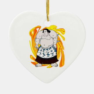 Ornement Cœur En Céramique Balayeuse de sumo