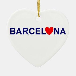 Ornement Cœur En Céramique Barcelona love