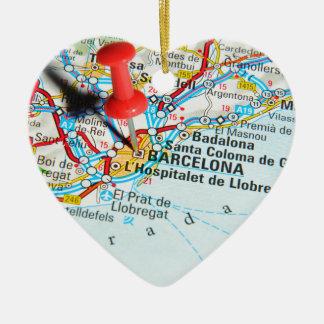 Ornement Cœur En Céramique Barcelone, Espagne