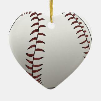 Ornement Cœur En Céramique Base-ball