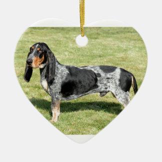 Ornement Cœur En Céramique Basset Bleu de Gascogne Dog