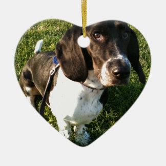 Ornement Cœur En Céramique Basset Hound adorable Snoopy