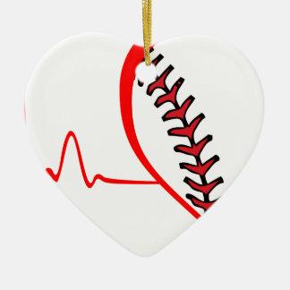 Ornement Cœur En Céramique battement de coeur