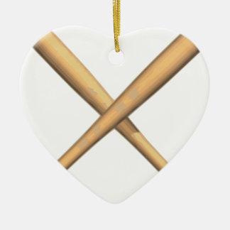 Ornement Cœur En Céramique Battes croisées