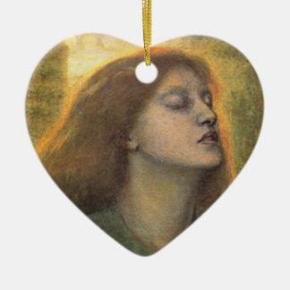 Ornement Cœur En Céramique BEATA Béatrix, par Dante Gabriel Rossetti