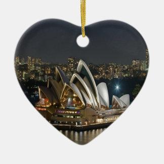 Ornement Cœur En Céramique Beauté et paix de théatre de l'opéra de Sydney