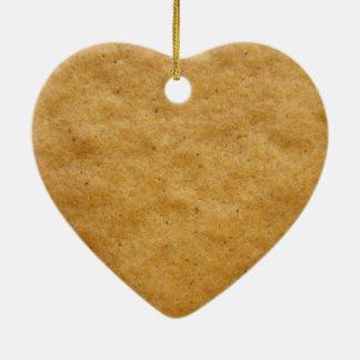 Ornement Cœur En Céramique Biscuit de pain d'épice en forme de coeur -