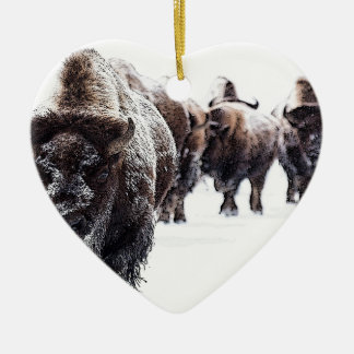 Ornement Cœur En Céramique Buffalo