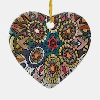 Ornement Cœur En Céramique Cadeaux de page de coloration de mandala