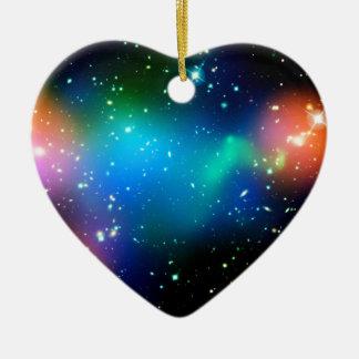 Ornement Cœur En Céramique Cadeaux de SpaceGalaxies - groupe Abell de galaxie
